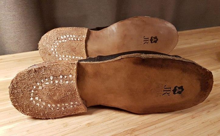 Pegged heels