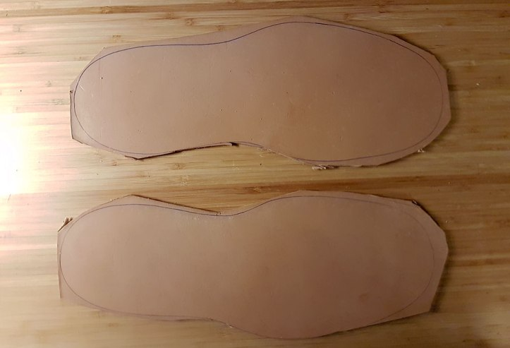Leather outsoles