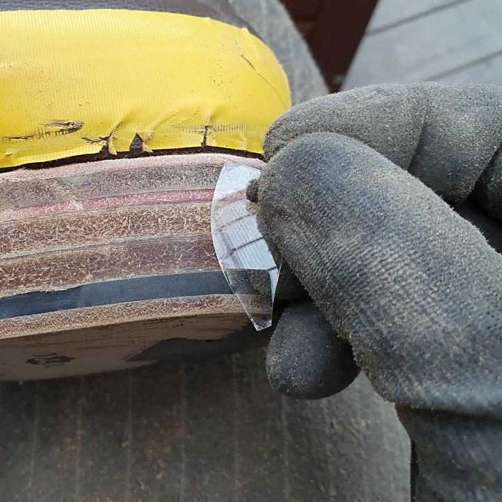heel glassing