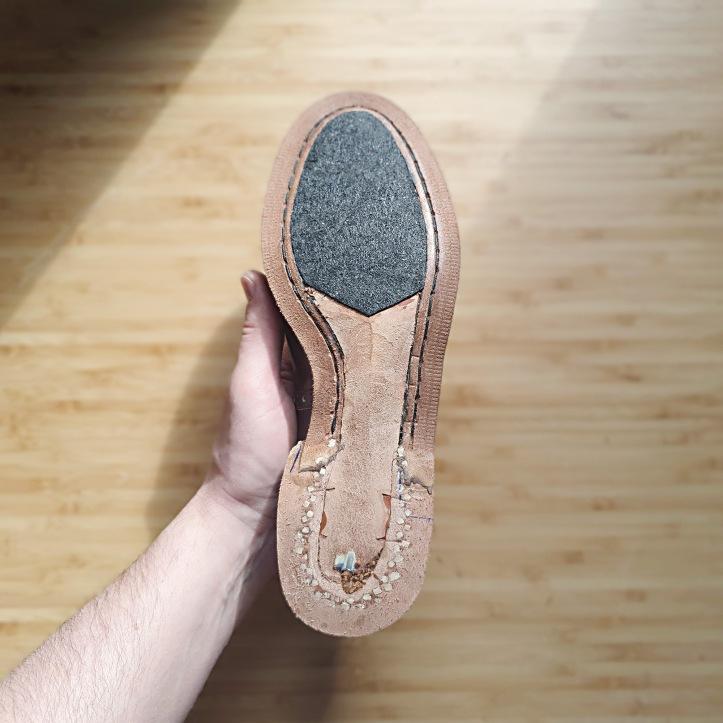tar felt shoe